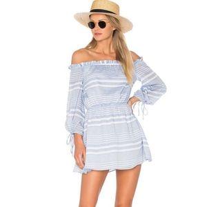 Lovers + Friends Get Lost Dress Blueberry Stripe M